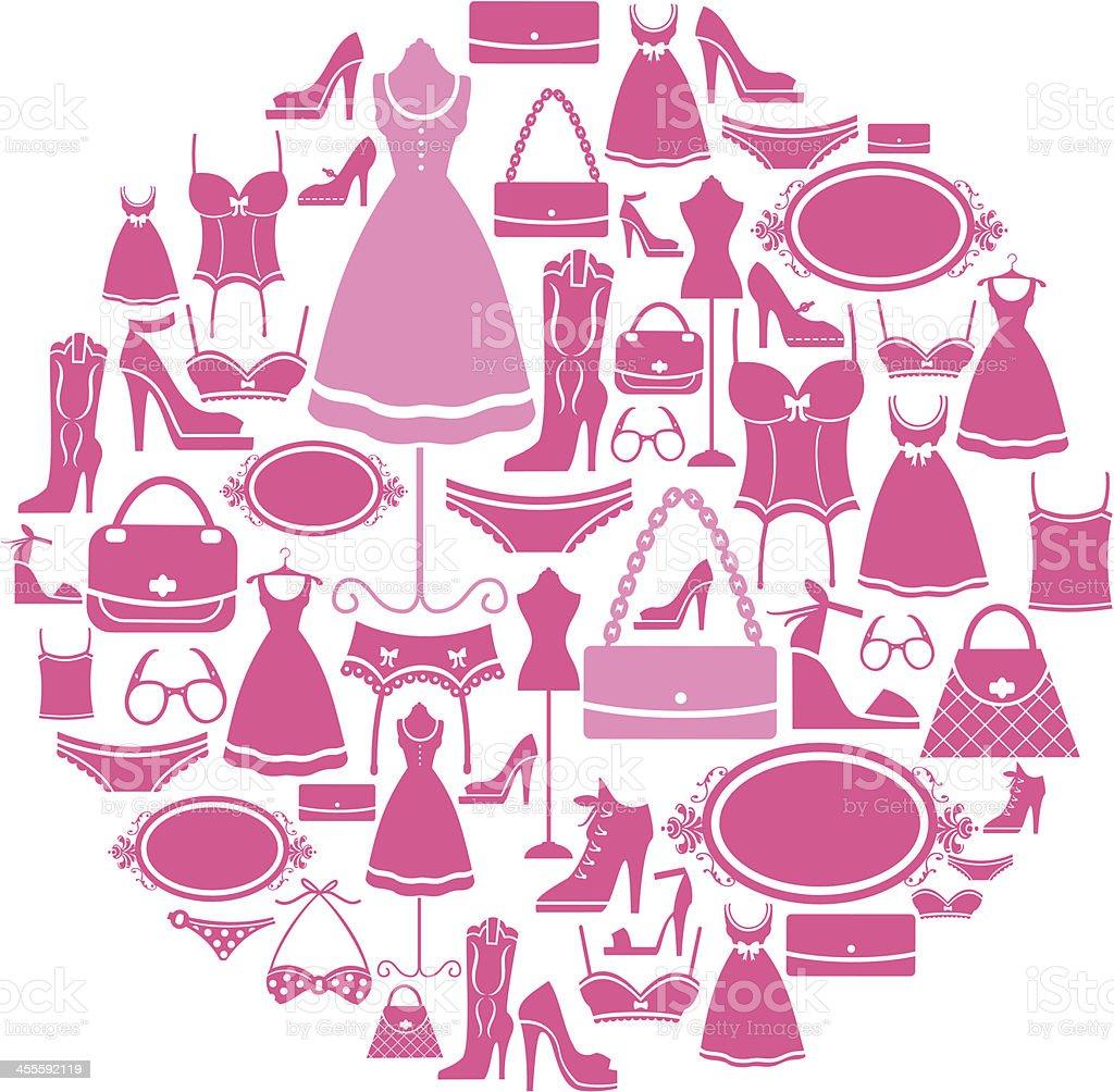 Fashion Icon Montage vector art illustration
