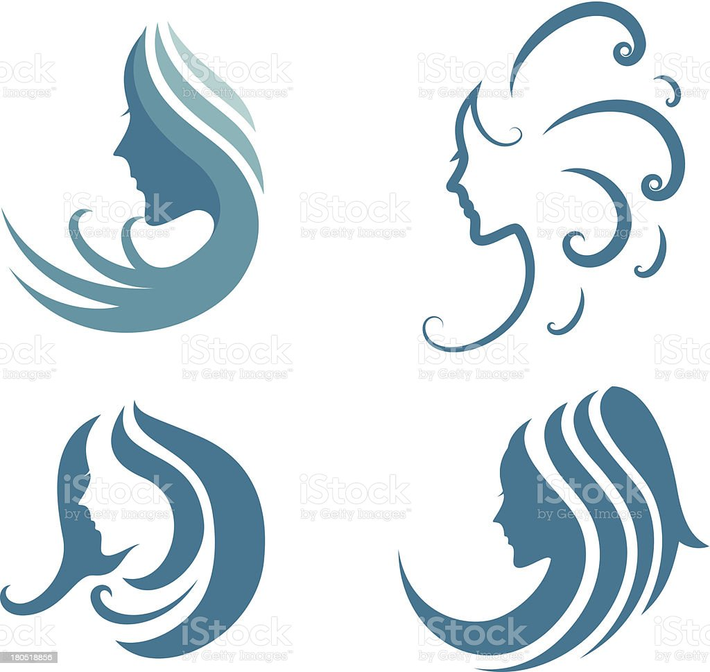 fashion icon. symbol of female beauty royalty-free stock vector art