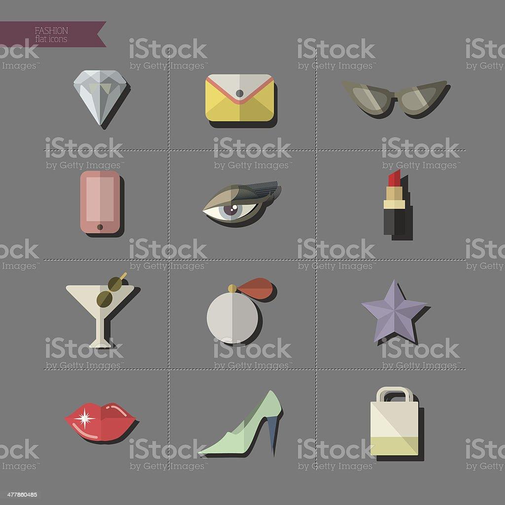 Fashion icons vector art illustration
