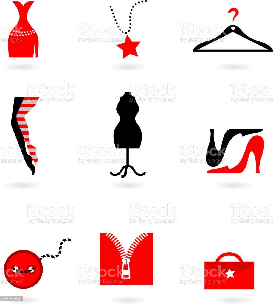 Fashion icons royalty-free stock vector art