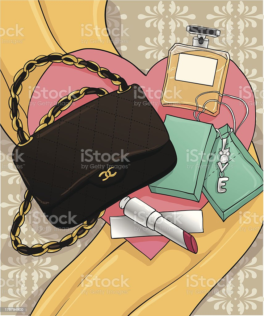 fashion Items vector art illustration