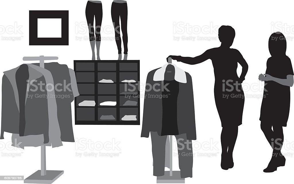 Fashion Lady vector art illustration