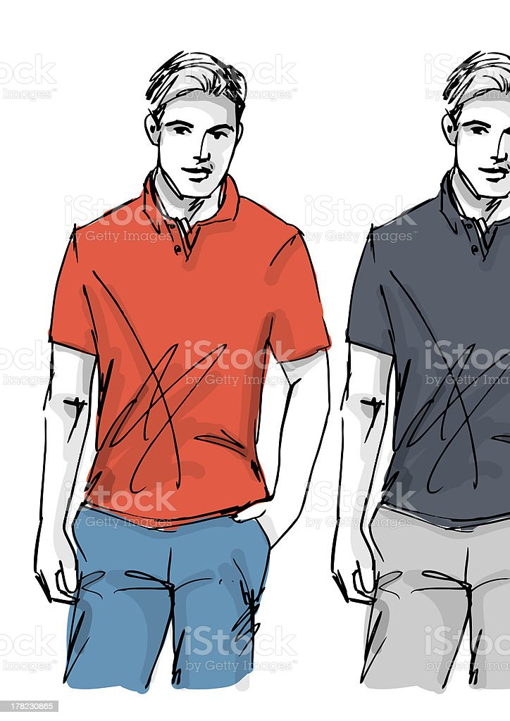 Fashion man vector art illustration