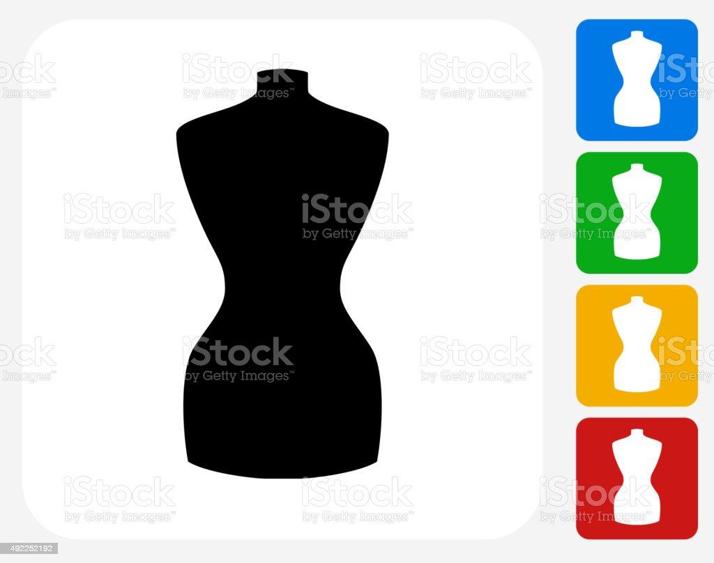 Fashion Mannequin Icon Flat Graphic Design vector art illustration
