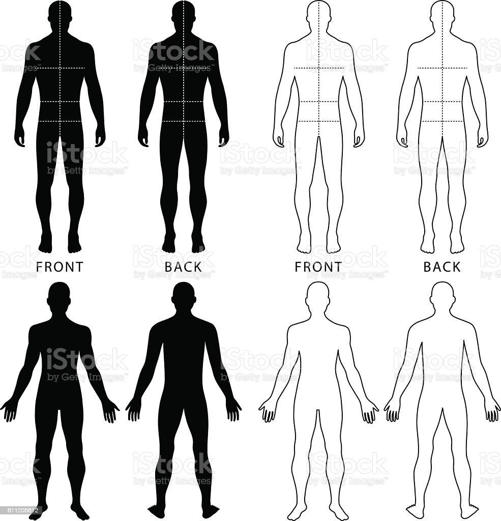 Fashion man's figure vector art illustration