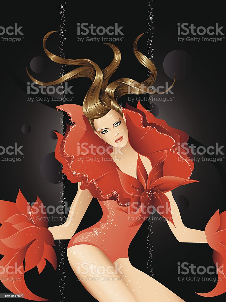 Fashion model royalty-free stock vector art