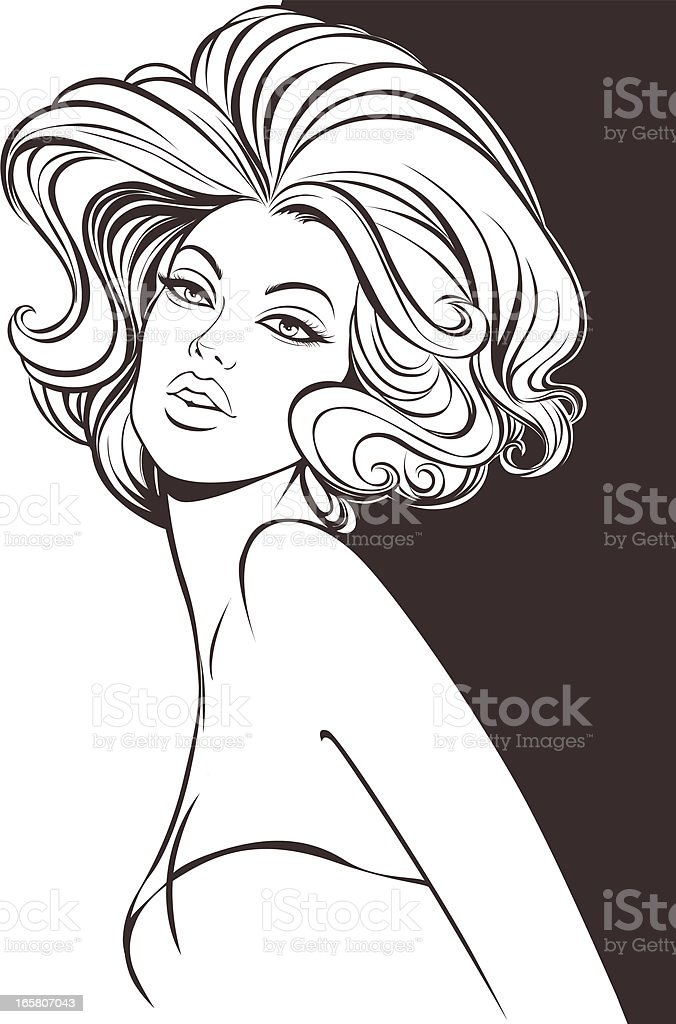 Fashion Model royalty-free stock vector art