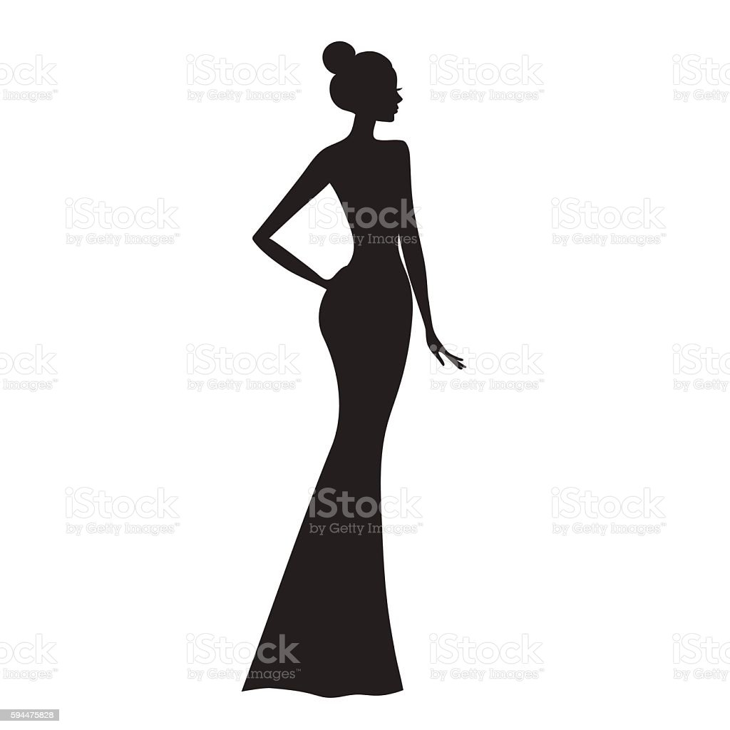 Fashion model vector art illustration