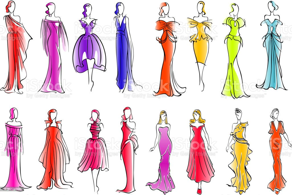 prom dress clip art vector images amp illustrations istock