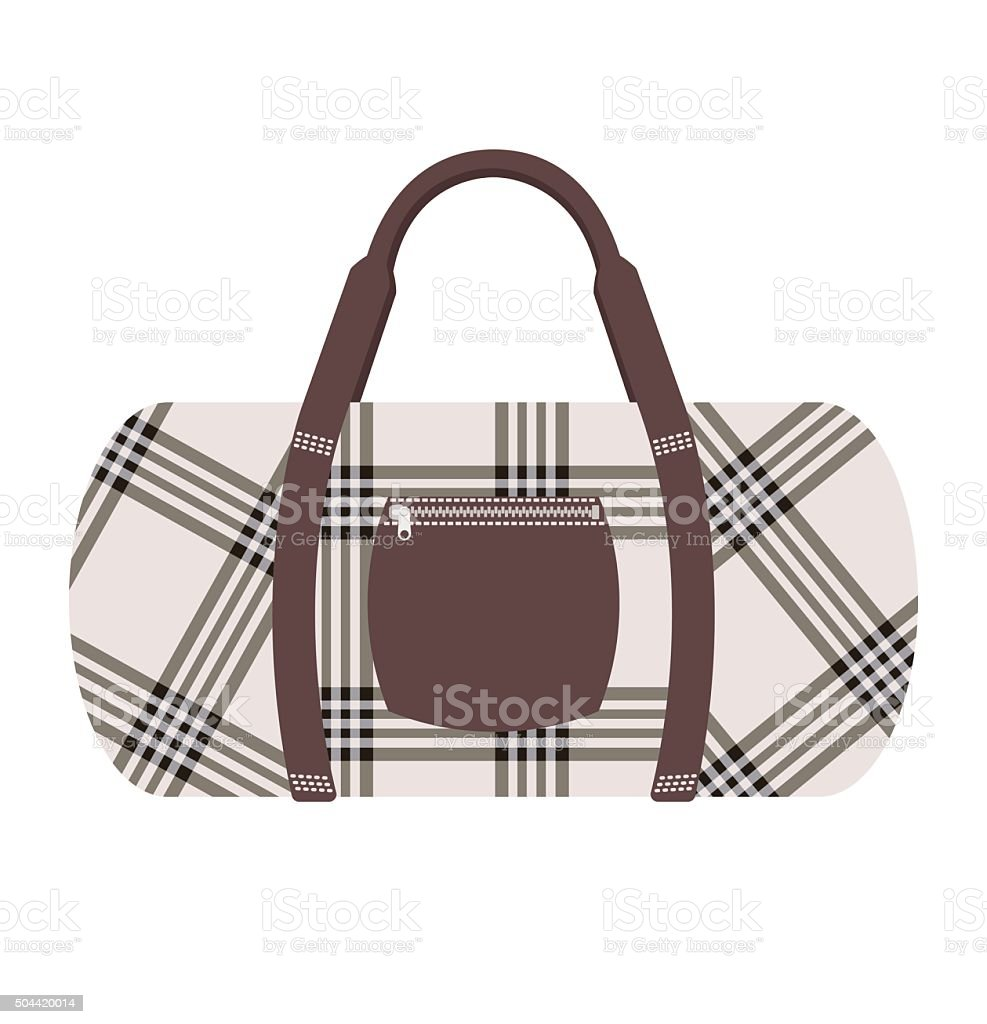 Fashion modern travel bag vector illustration vector art illustration