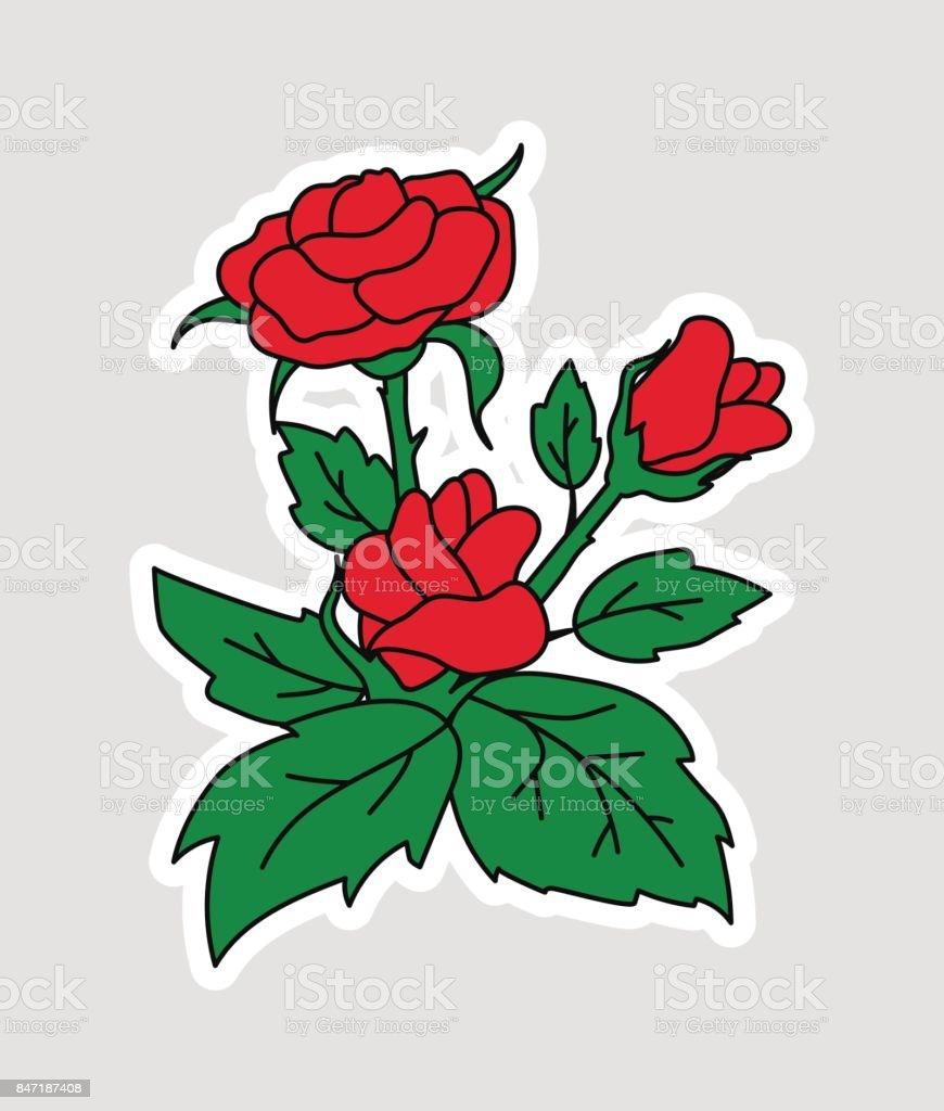 Fashion patch badges set vector art illustration