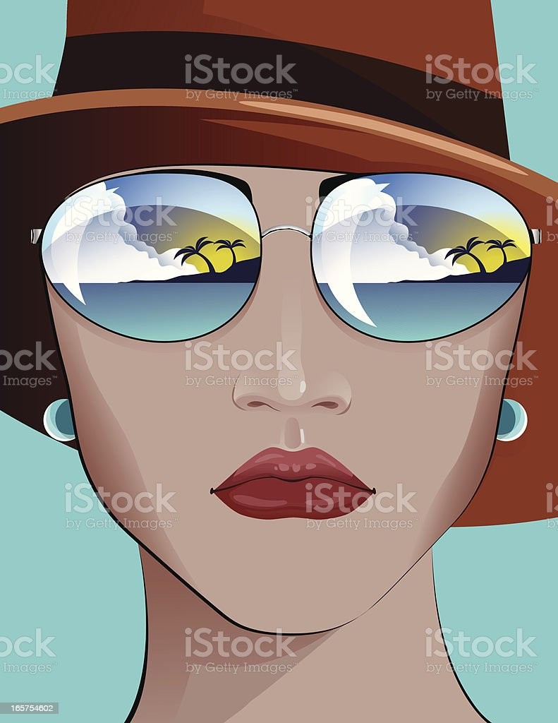 Fashion Portrait royalty-free stock vector art