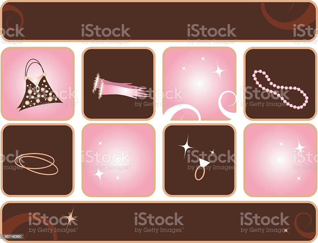 Fashion Princess Collecton royalty-free stock vector art