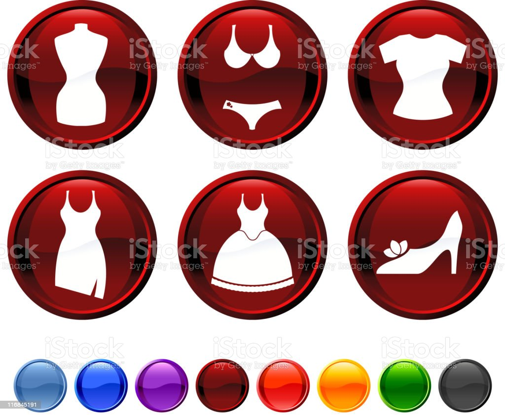 fashion royalty free vector icon set royalty-free stock vector art