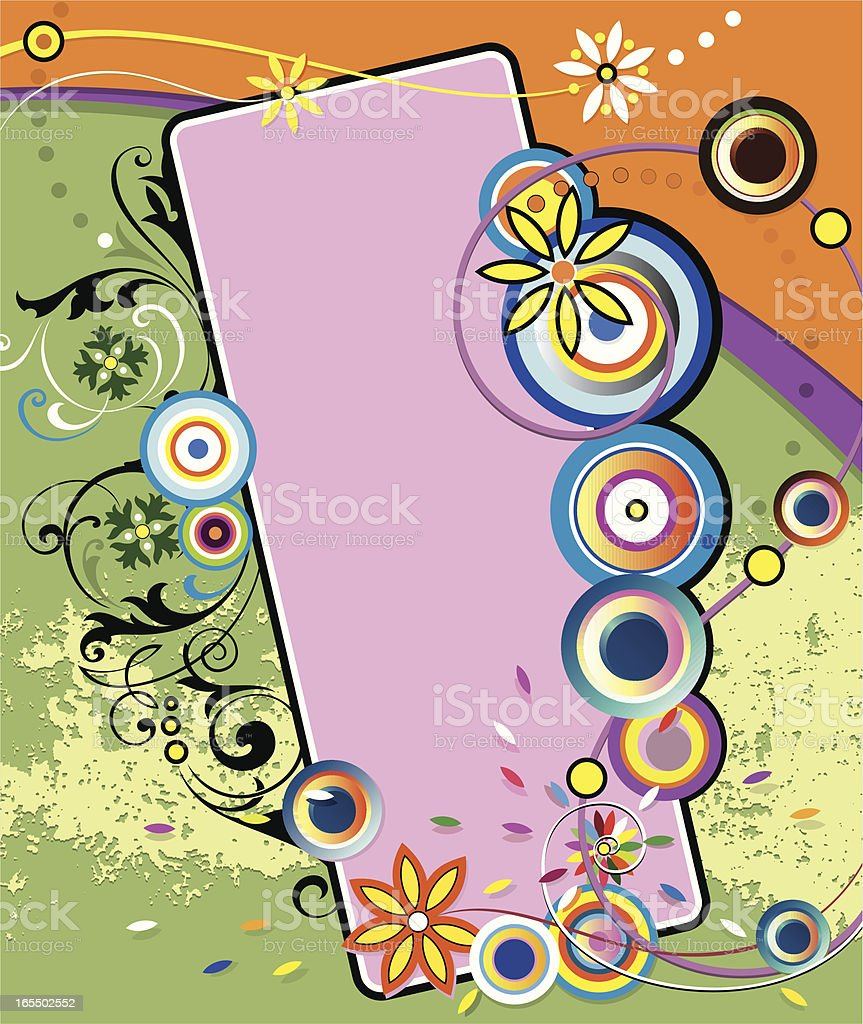 Fashion Scroll Art Panel vector art illustration