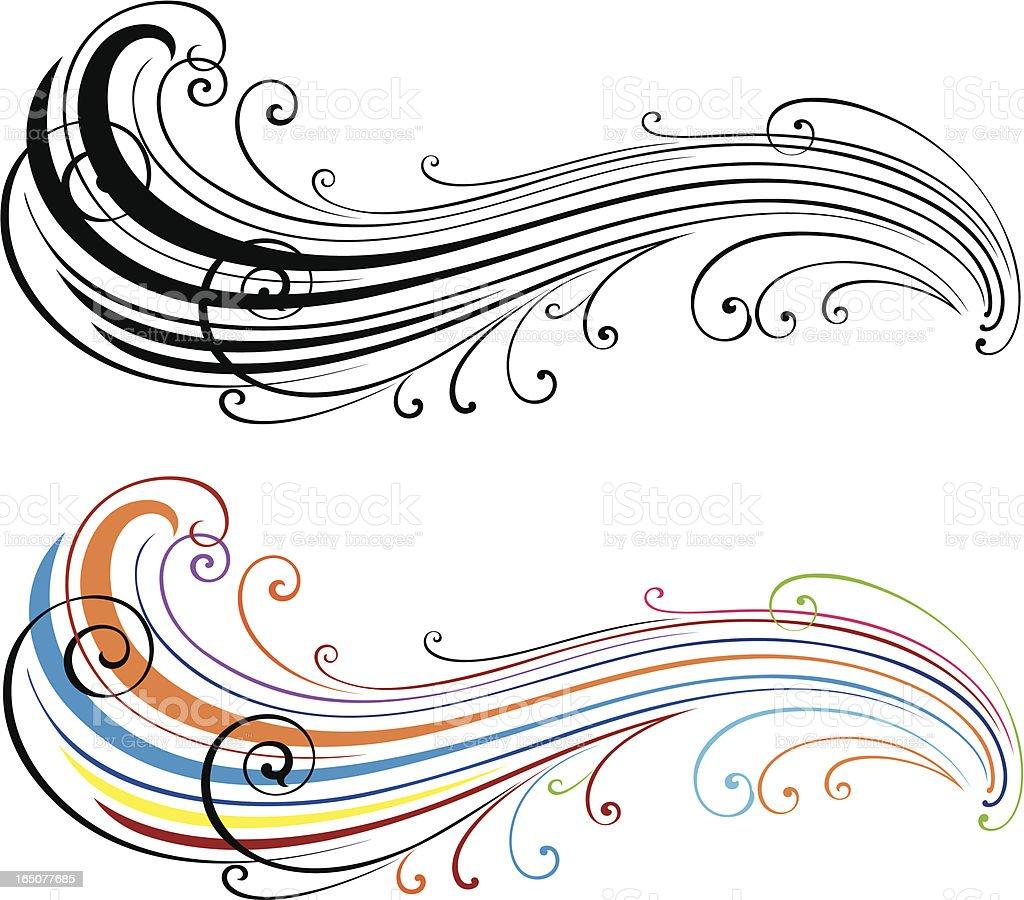 Fashion Scroll Art royalty-free stock vector art