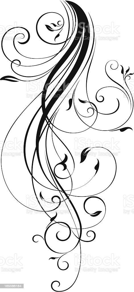 Fashion Scroll royalty-free stock vector art