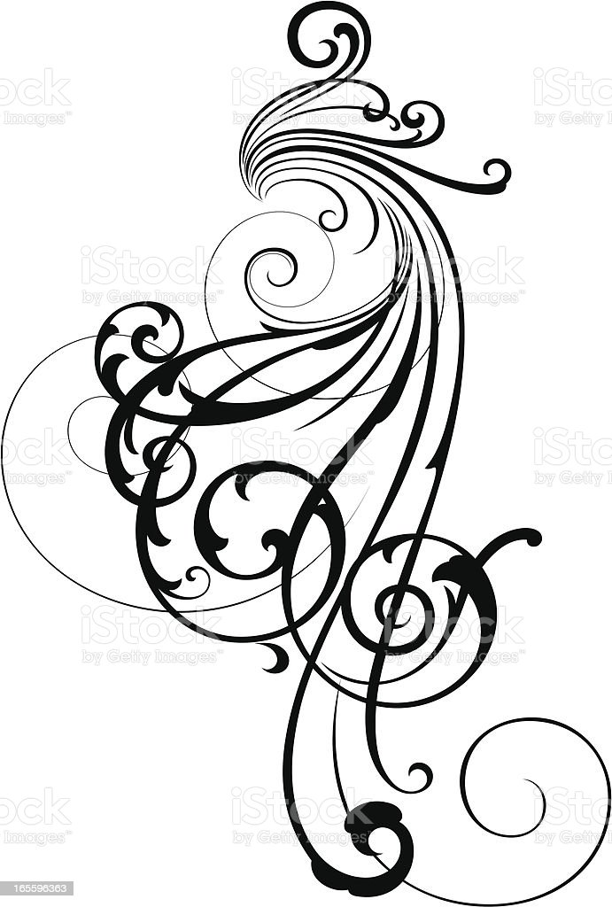Fashion Scroll royalty-free stock vector art