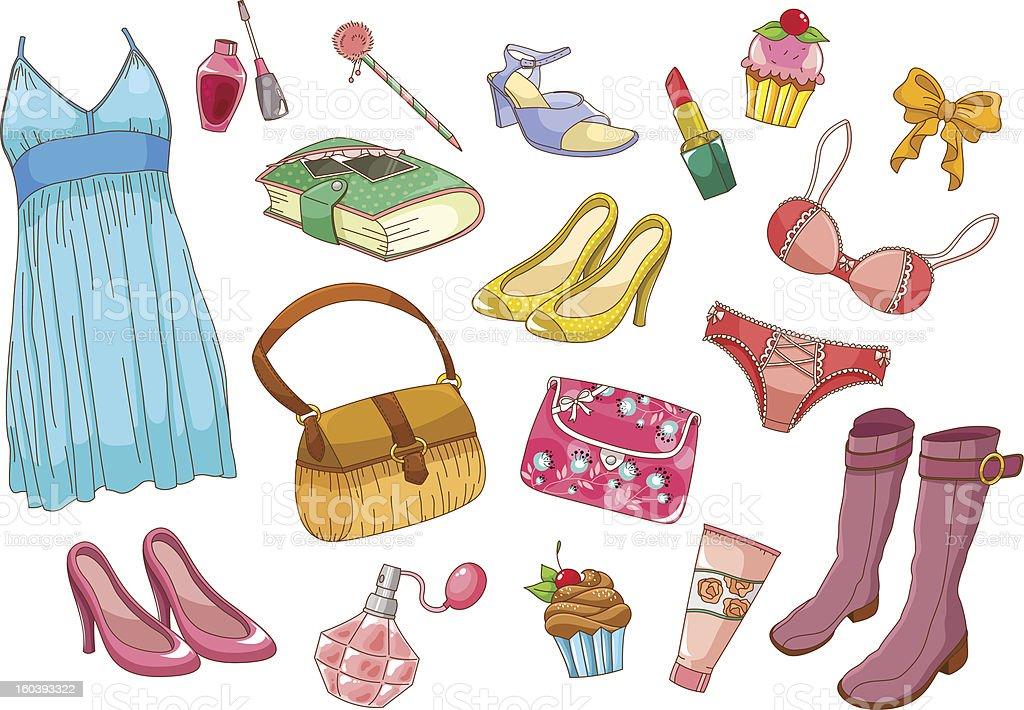 fashion set royalty-free stock vector art