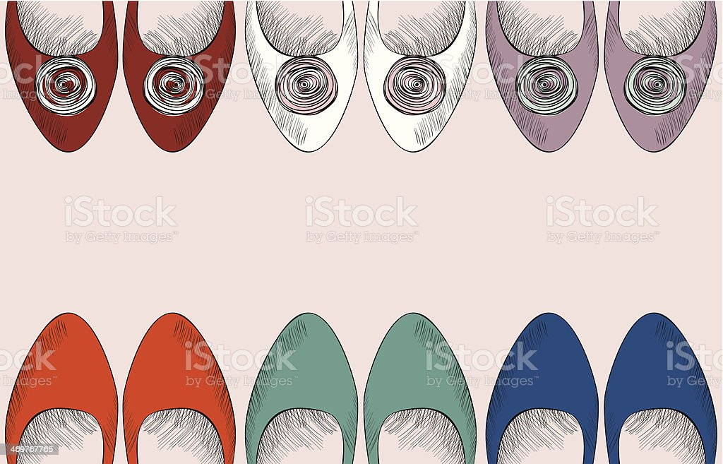 fashion  shoes royalty-free stock vector art