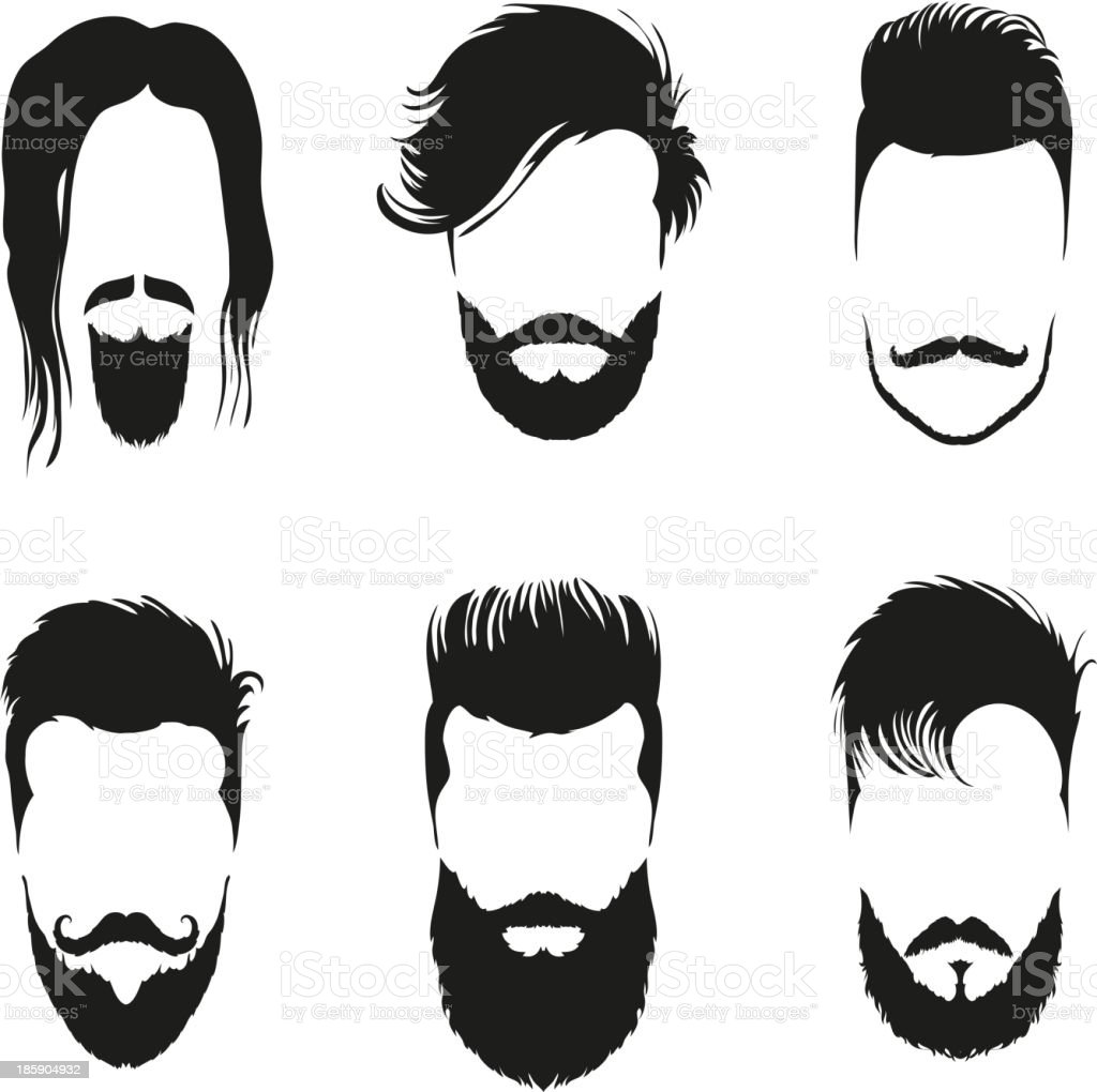 Fashion silhouette hipster style set, vector illustration vector art illustration
