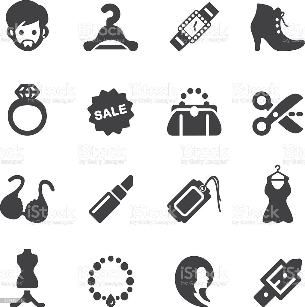 Fashion Silhouette Icons | EPS10 vector art illustration