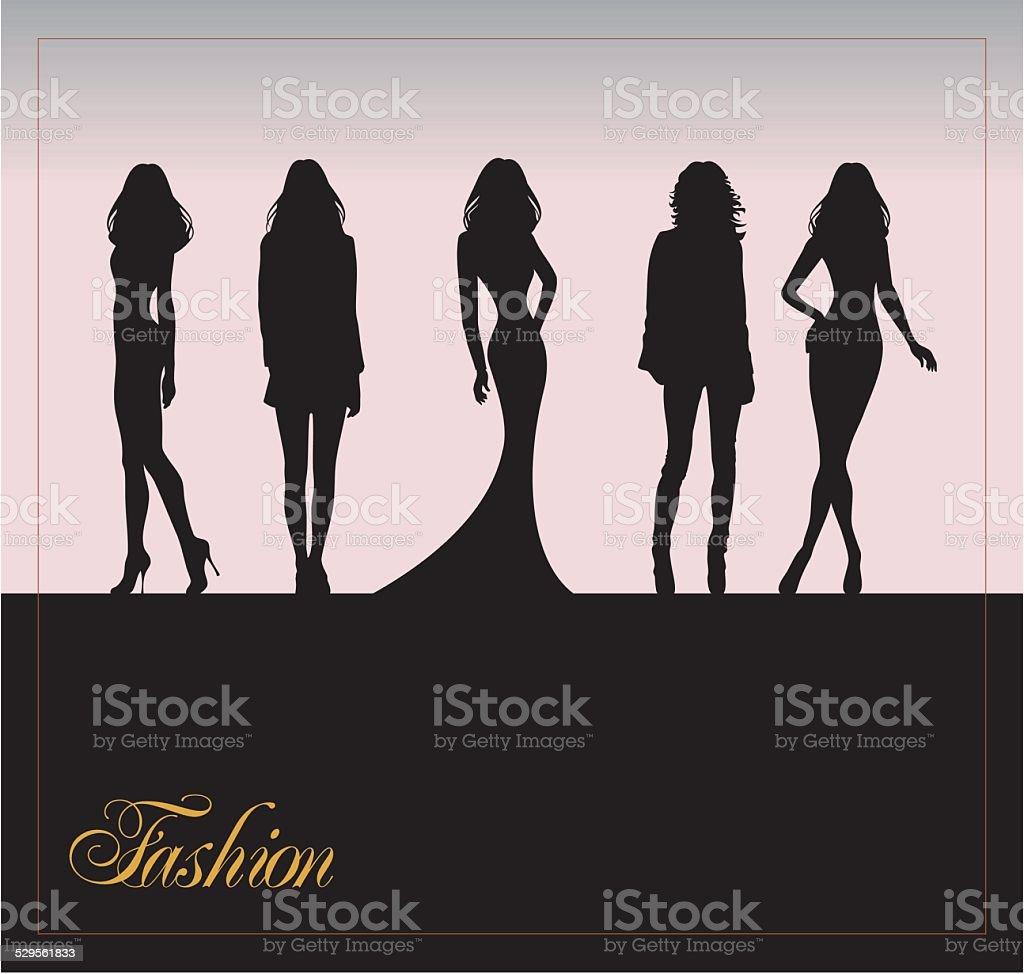 fashion silhouette vector art illustration