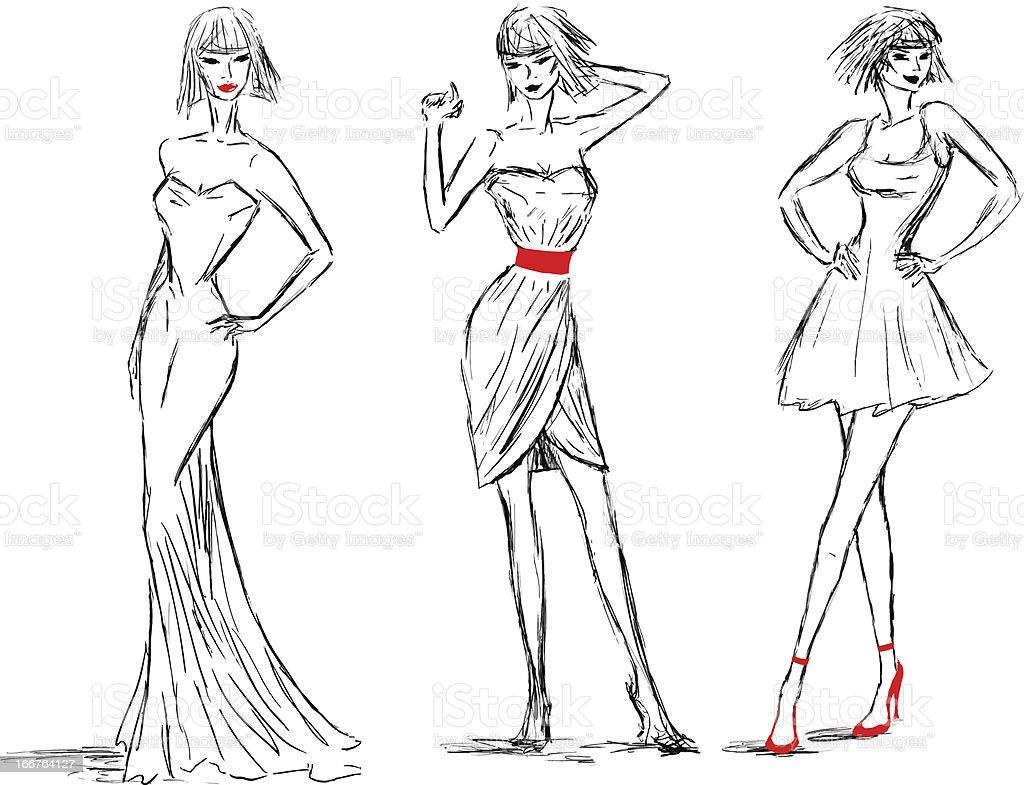 Fashion sketch royalty-free stock vector art