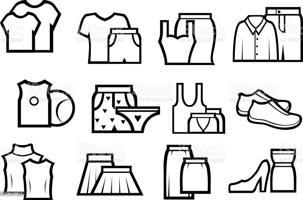Fashion symbols royalty-free stock vector art