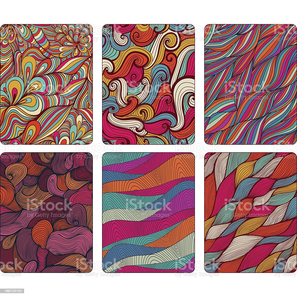Fashion tablet skins. Modern abstract backgrounds royalty-free stock vector art