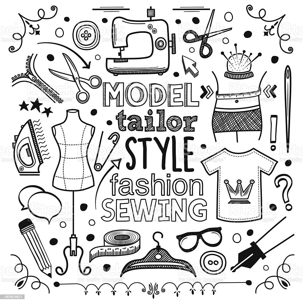 Fashion vector art illustration