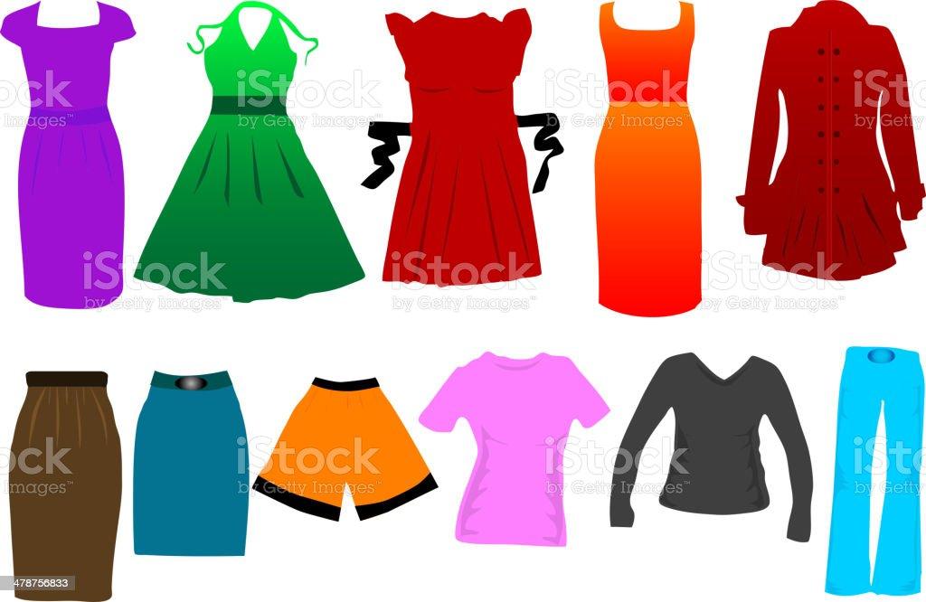 fashion women dress vector royalty-free stock vector art