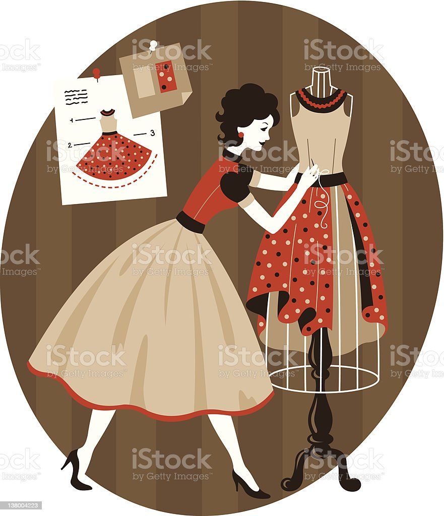 Fashion Workshop royalty-free stock vector art