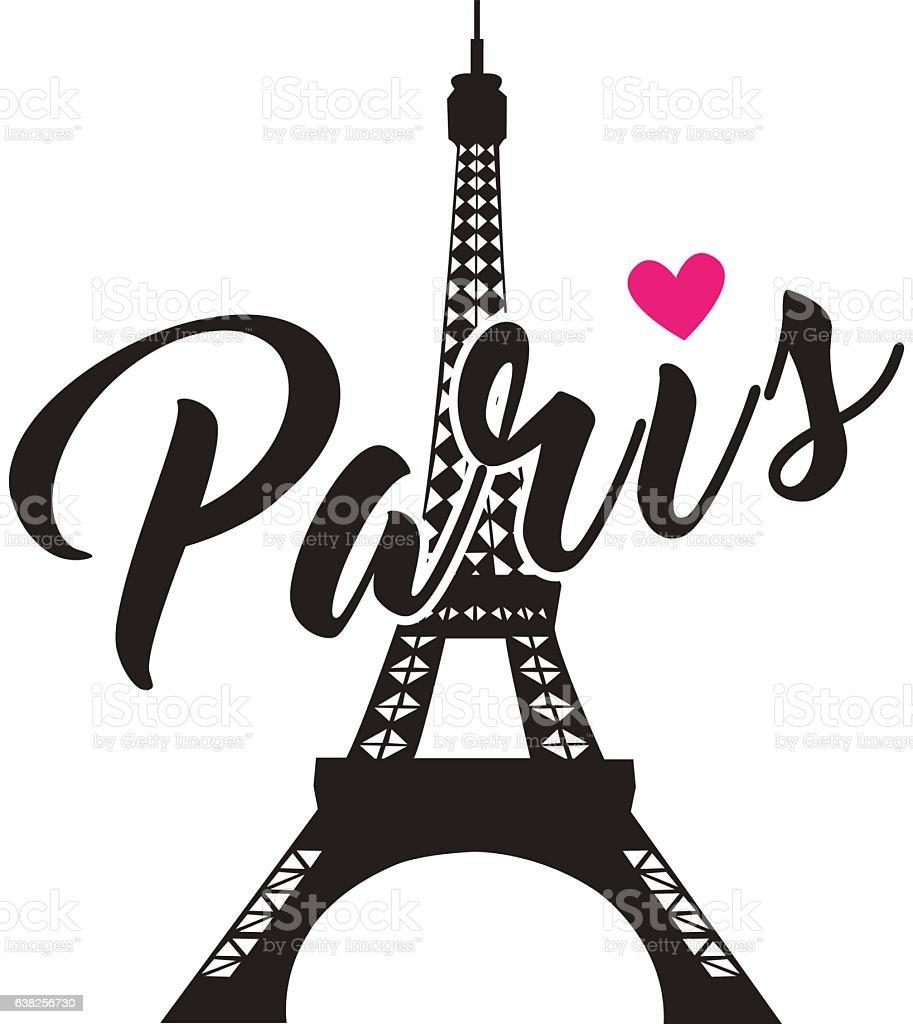 A Paris Apartment And A Paris Graphic: Fashionable Calligraphy Simple Graphic Design For Paris