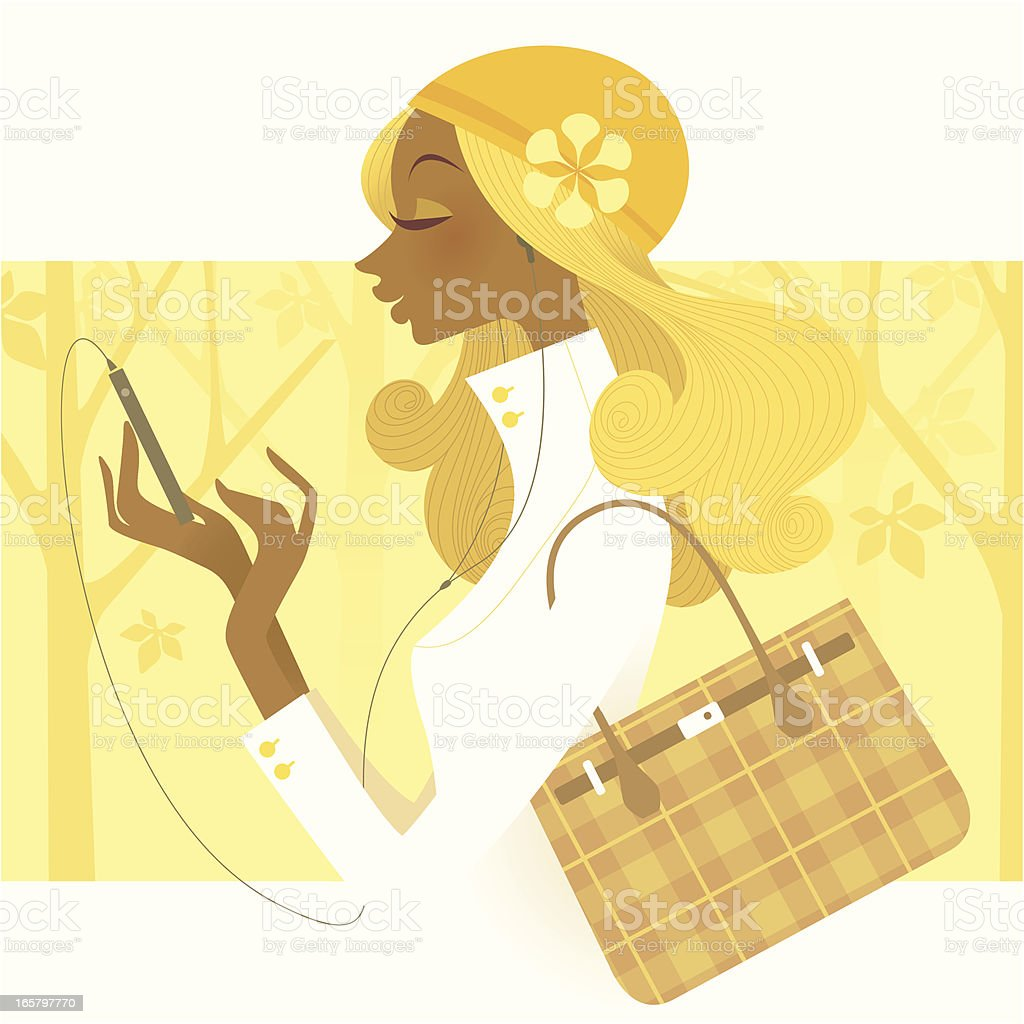 Fashionable  Technology (Smartphone Music) royalty-free stock vector art