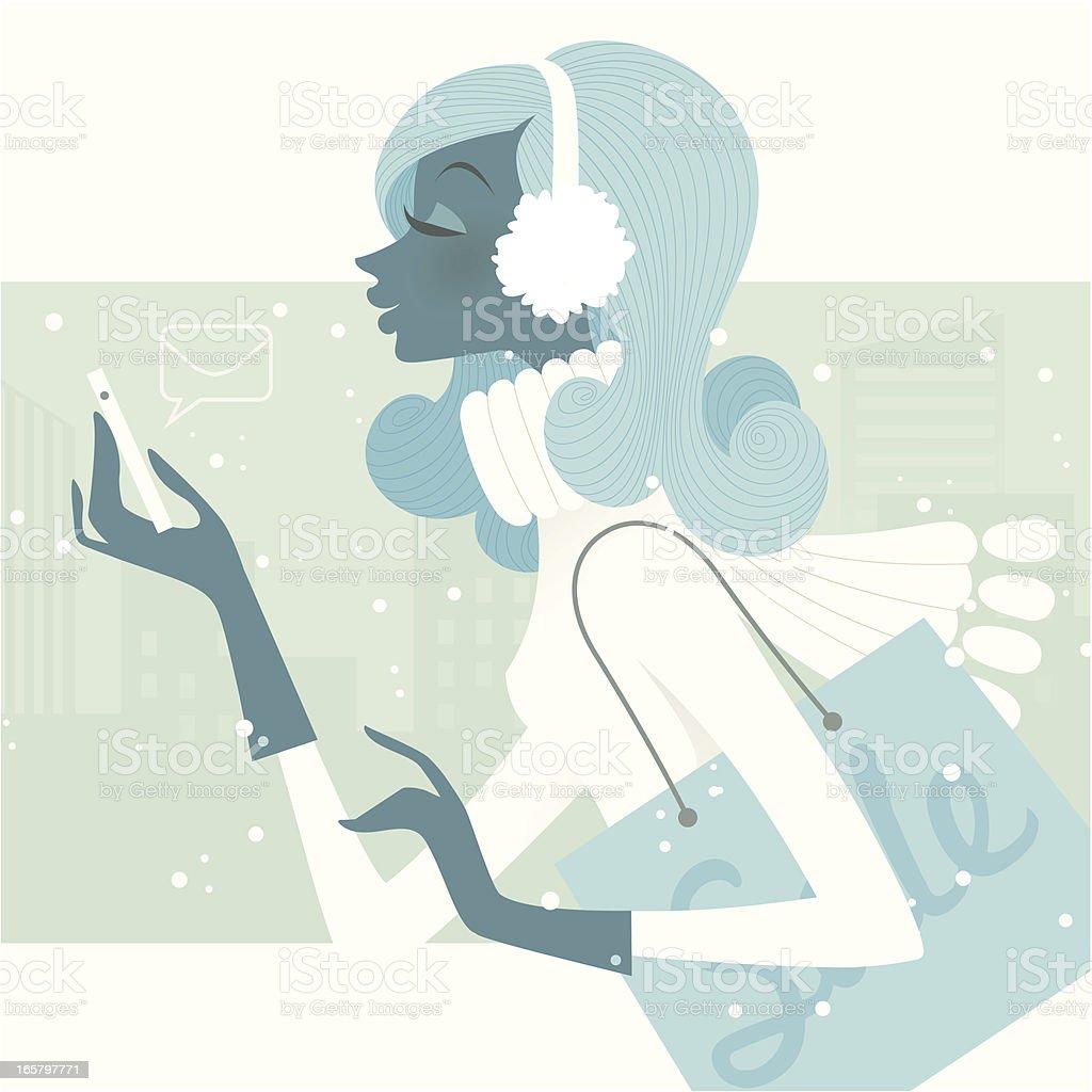 Fashionable  Technology (Smartphone Internet) royalty-free stock vector art