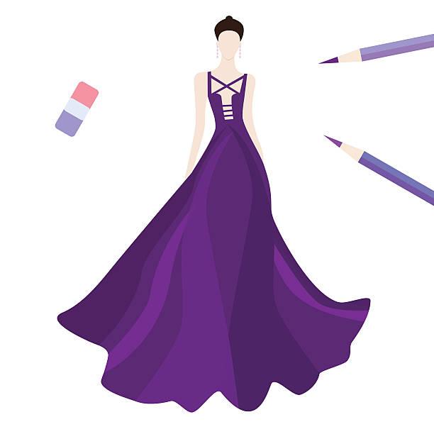 Prom Dress Clip Art, Vector Images & Illustrations - iStock