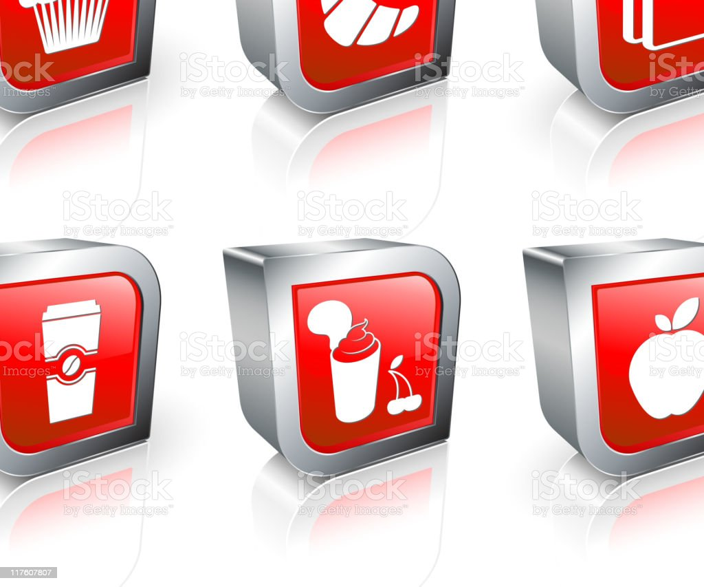 Fast breakfast computer icons. royalty-free stock vector art