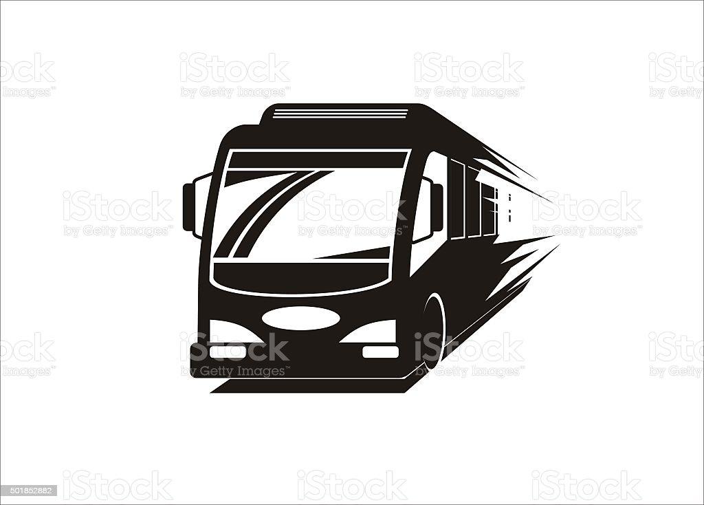 fast bus simple illustration vector art illustration