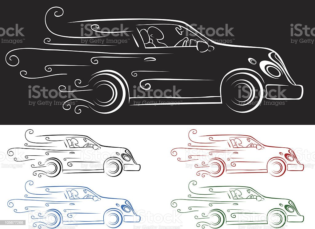 Fast Car royalty-free stock vector art