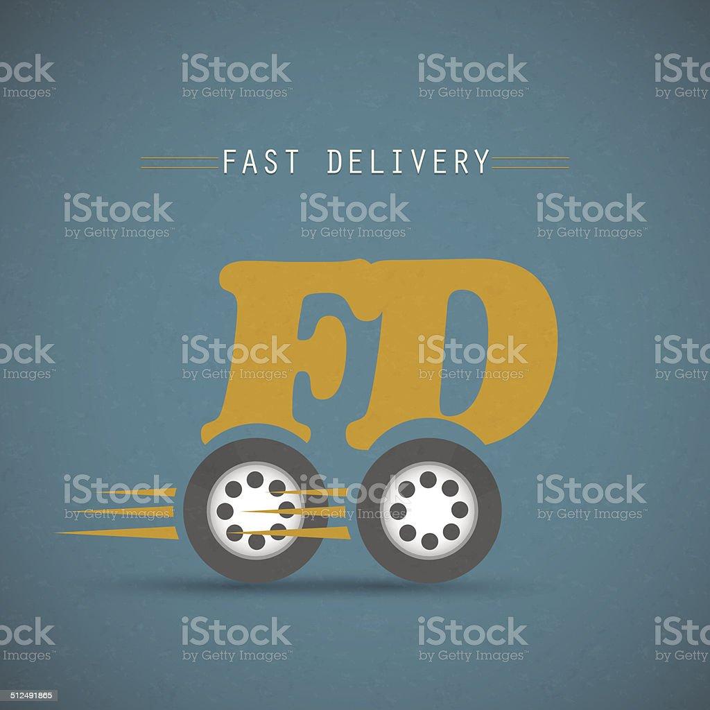 Fast delivery design vector art illustration