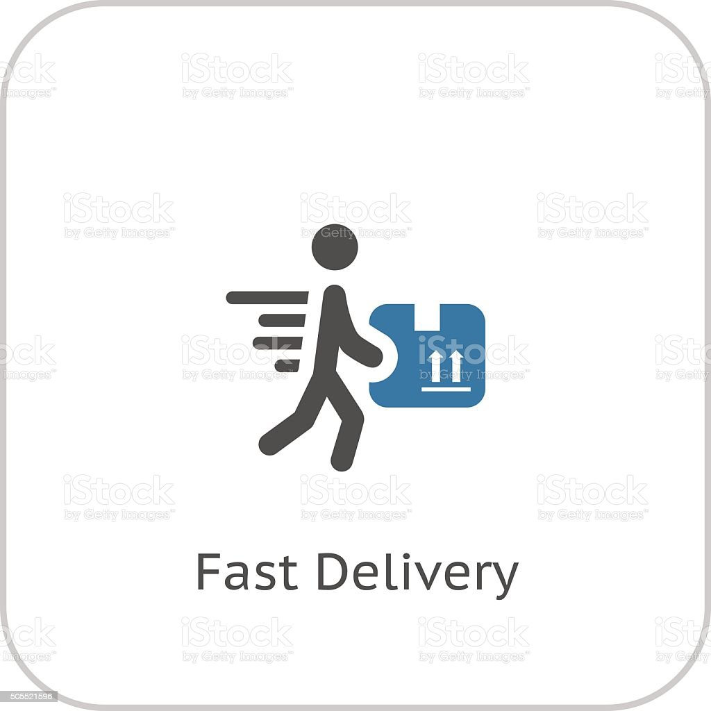 Fast Delivery Icon. Flat Design. vector art illustration
