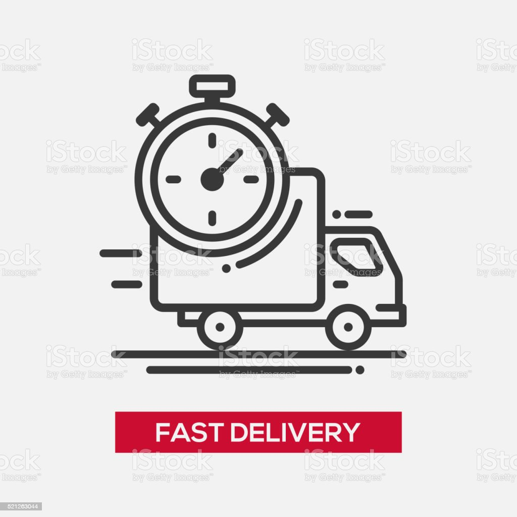 Fast delivery service single icon vector art illustration