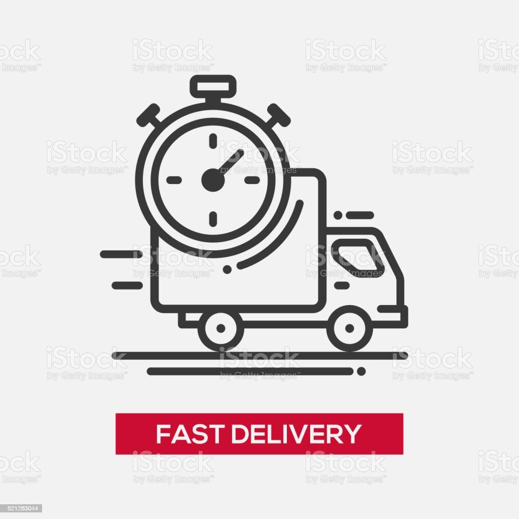 Fast delivery service single icon vector art illustration