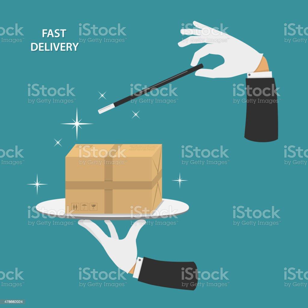 Fast delivery vector conceptual illustration. vector art illustration