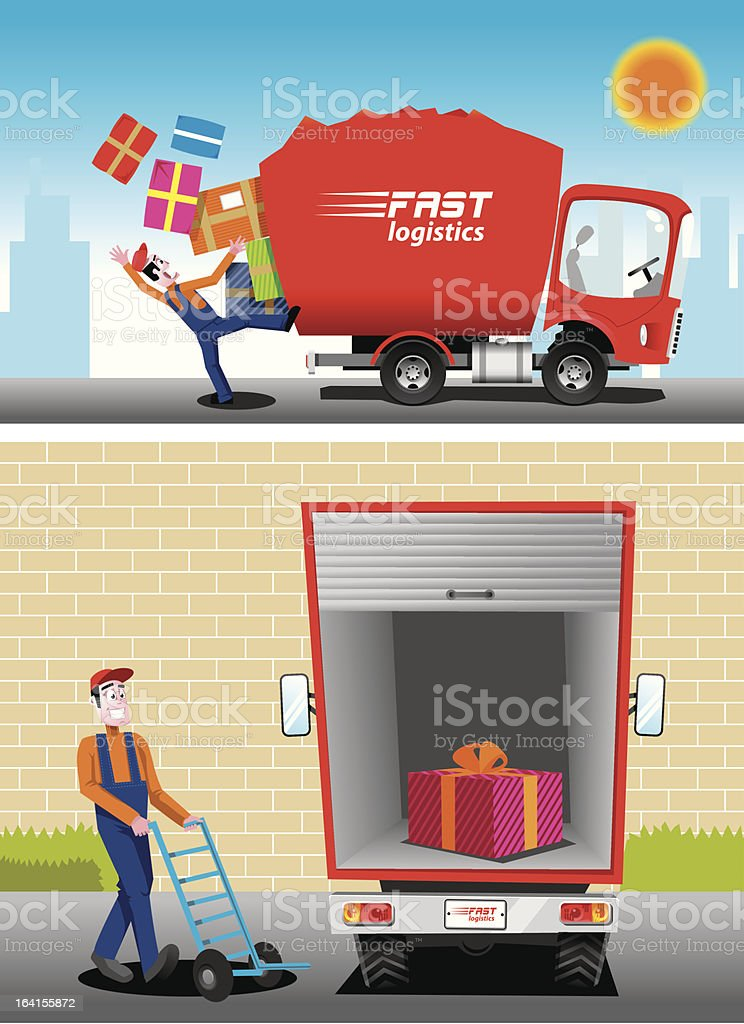 fast delivery royalty-free stock vector art