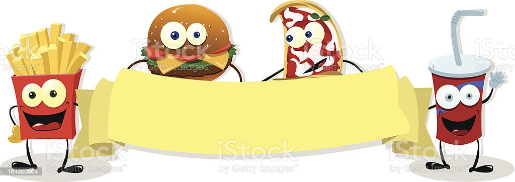 Fast food banner royalty-free stock vector art