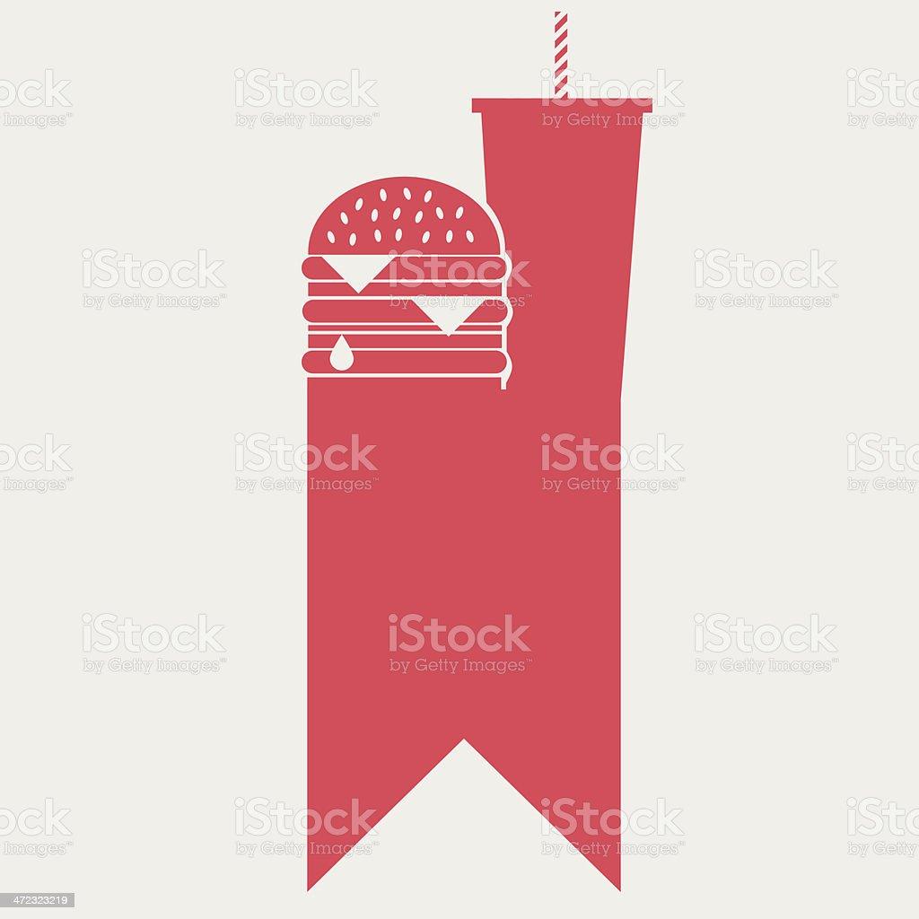 Fast food banner vector art illustration