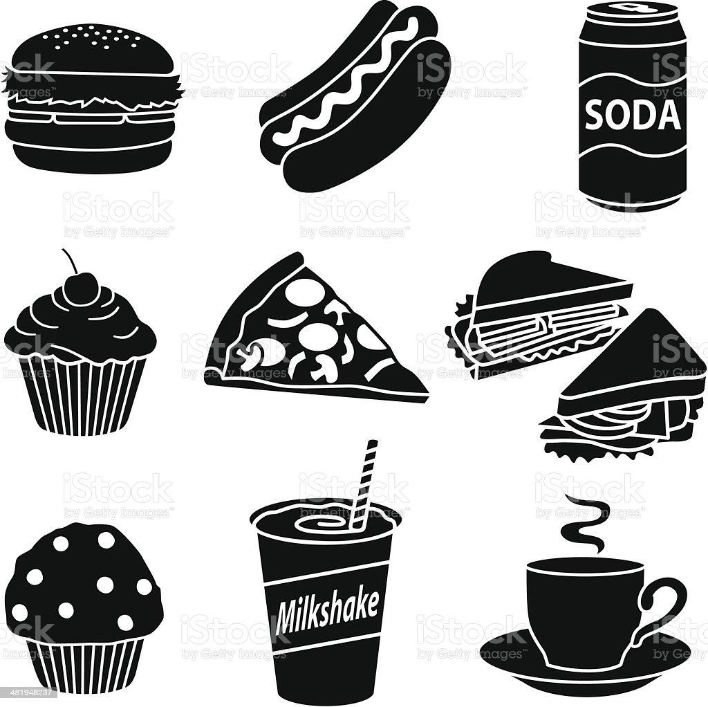 fast food diet vector art illustration