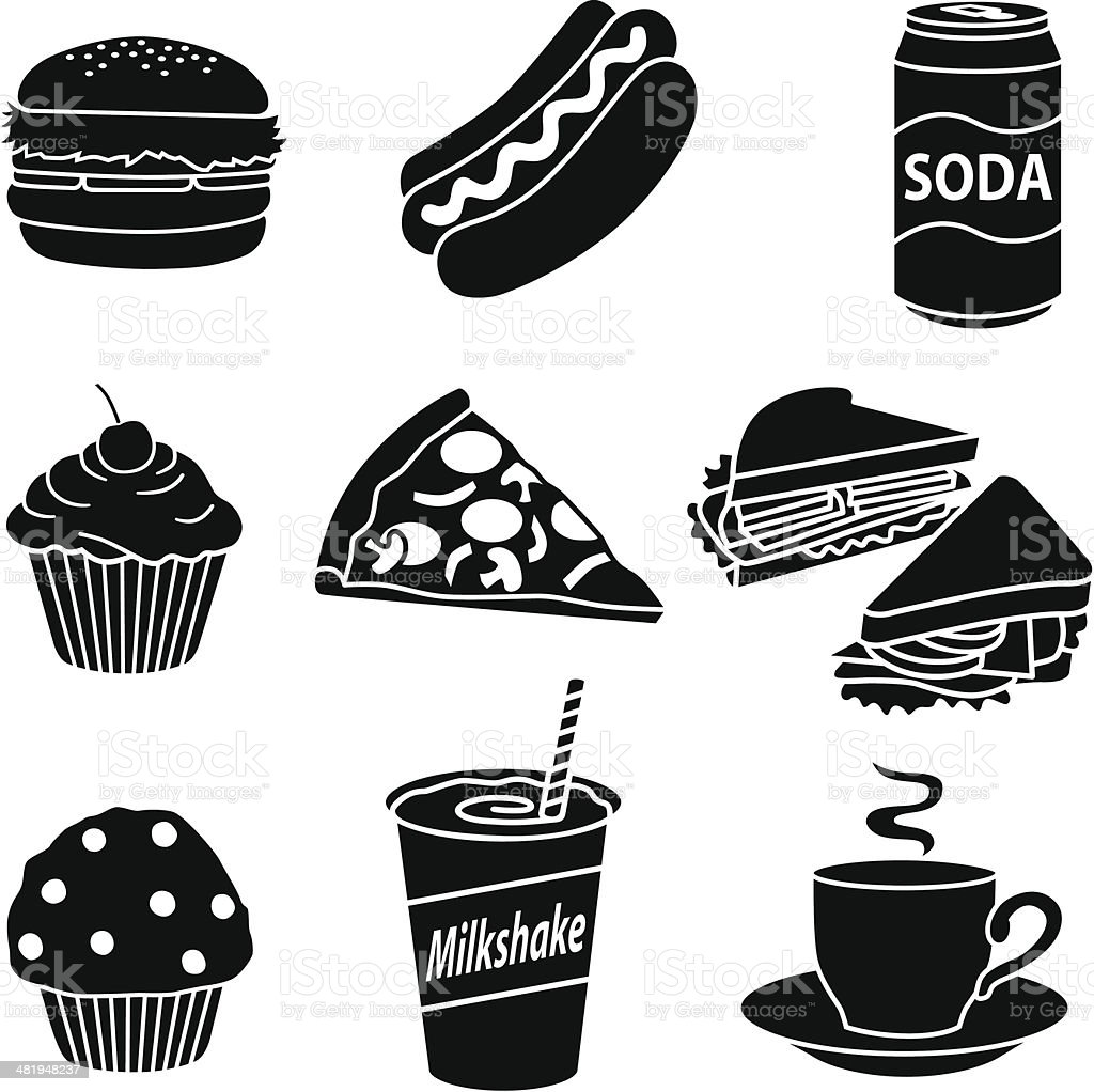 fast food diet vector art illustration
